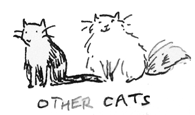 ink sketch of Other Cats
