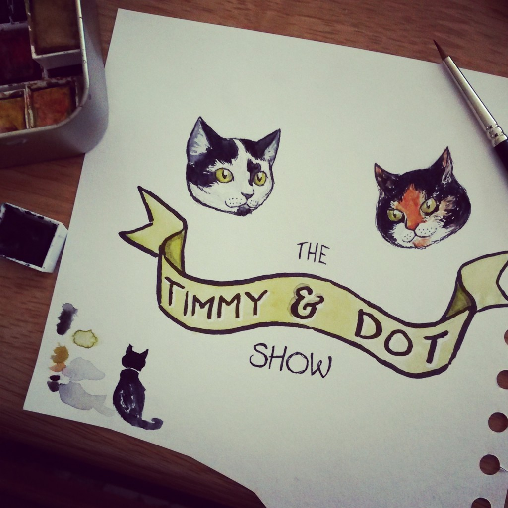 Instagram Flashback: The Timmy and Dot Show. Cartoon cats galore!