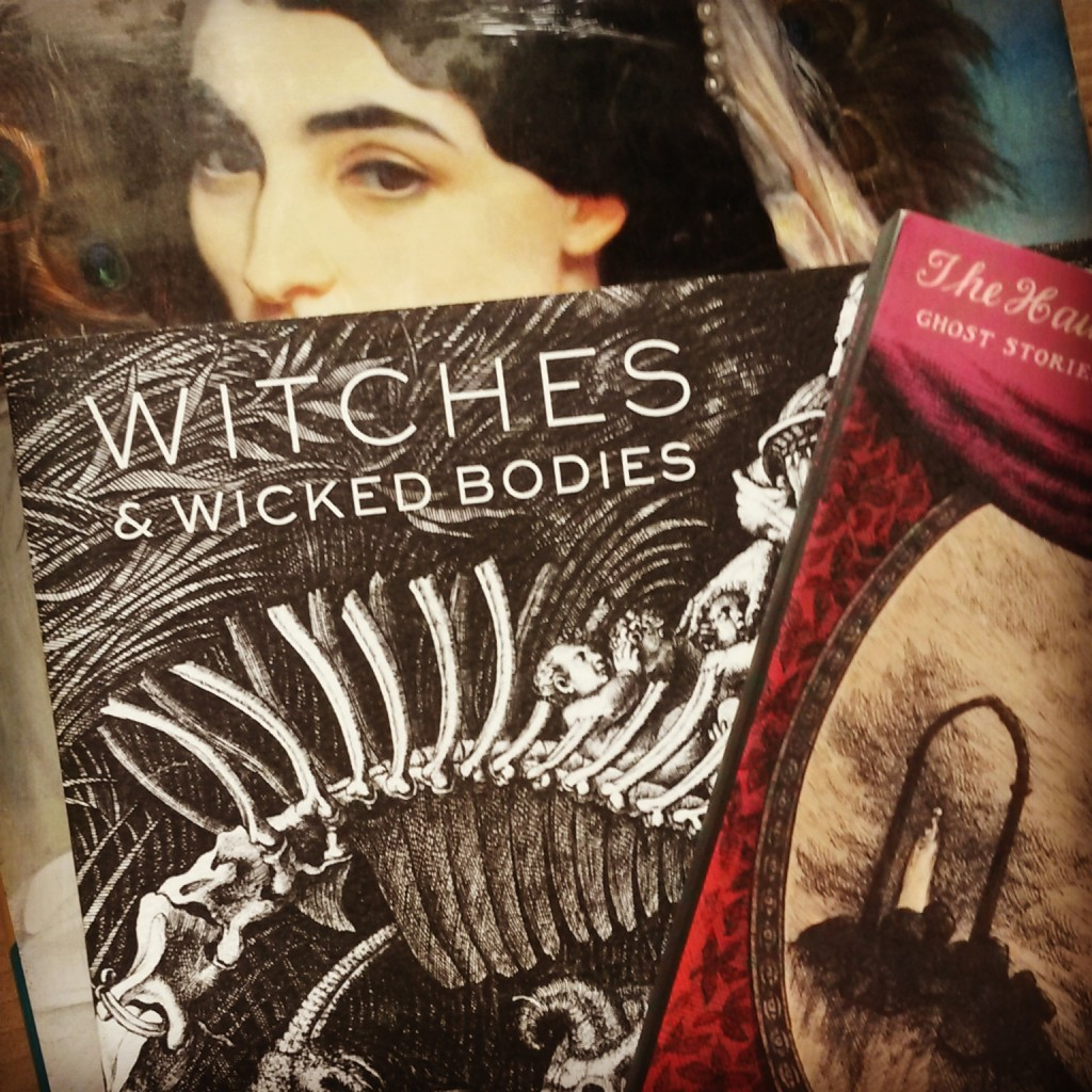 Books! Witches & Wicked Bodies book of the exhibition; The Haunted Looking Glass ghost stories; The Cult of Beauty exhibition book