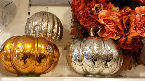 mercury glass pumpkins from Home Sense